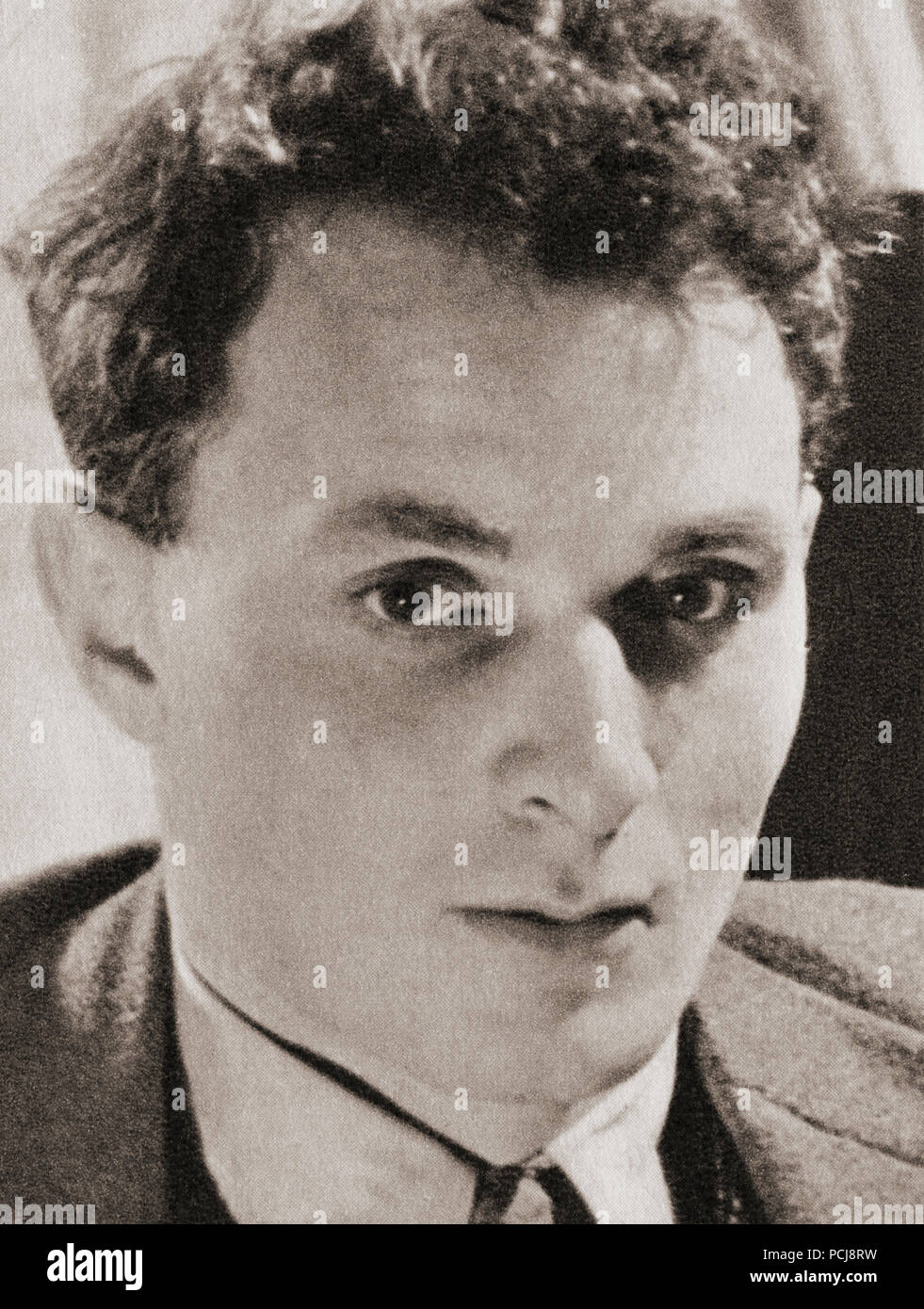 Sir Stephen Harold Spender, 1909 – 1995.  English poet, novelist, and essayist.  After a contemporary print. - Stock Image