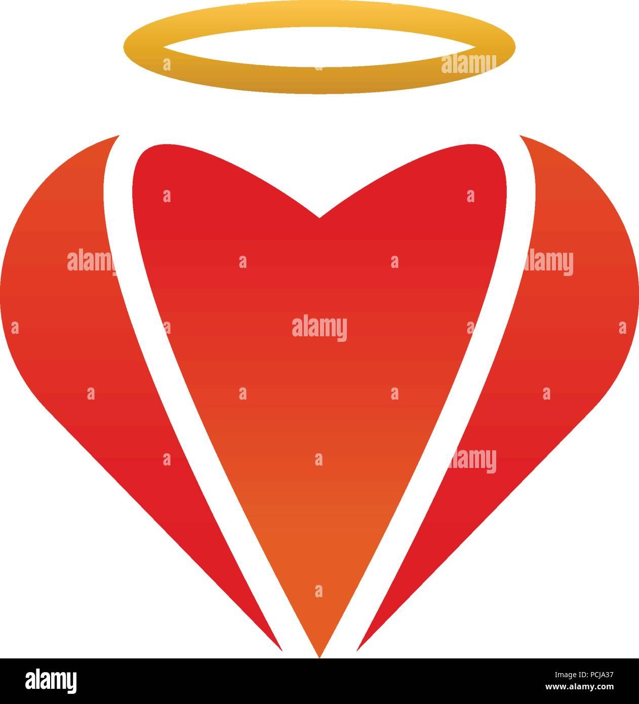 Heart Shape Logo Design Template Vector Eps10 Stock Vector Art