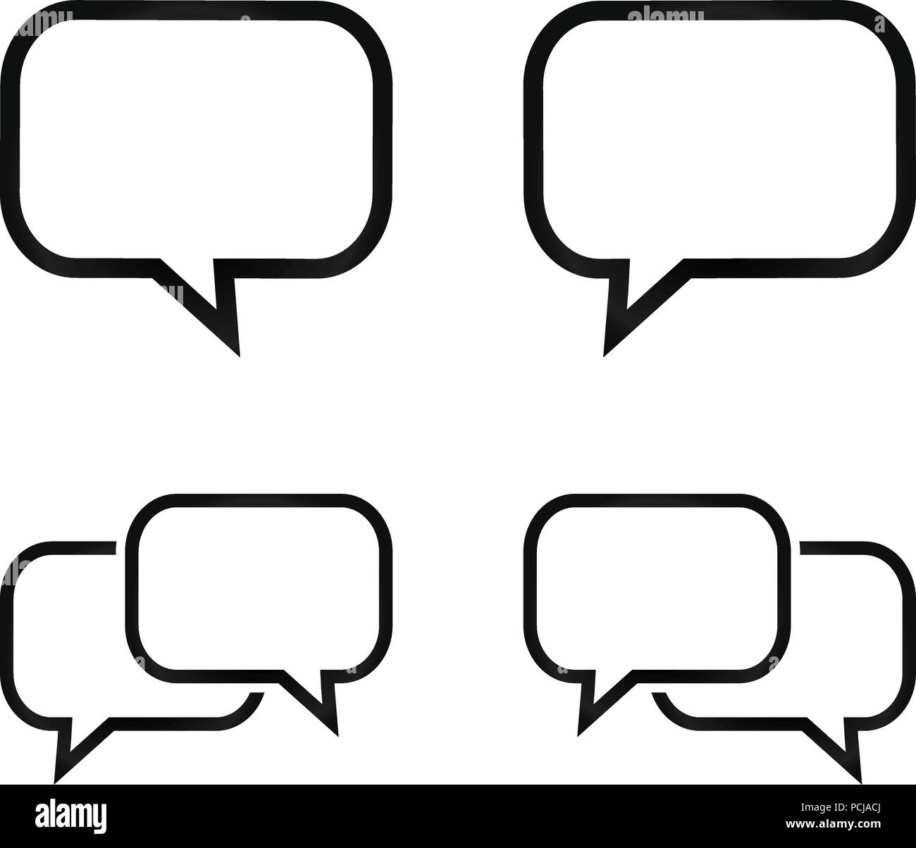 Simple bubble chat icon pack vector design eps10 Stock