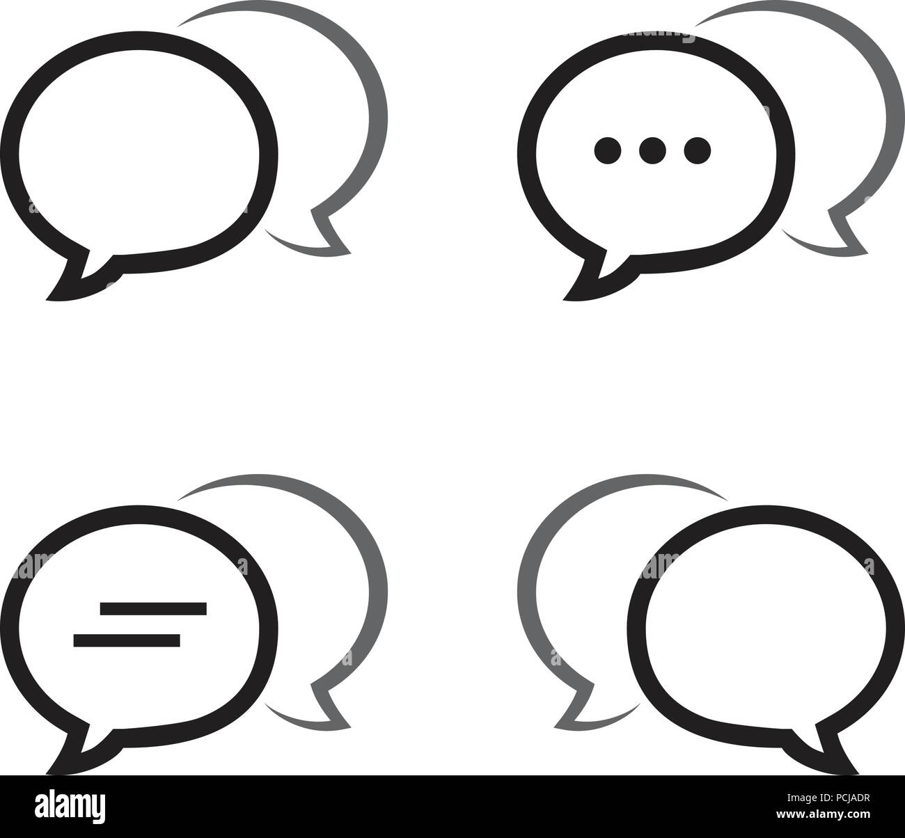 Bubble chat outline icon pack vector design eps10 Stock Vector Art