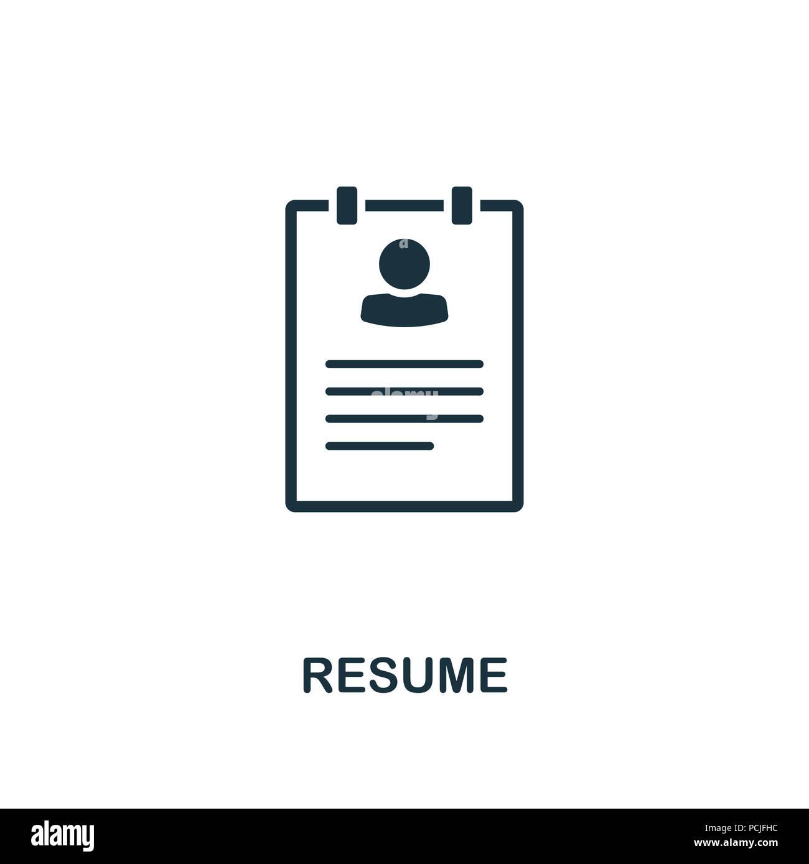 Resume creative icon. Simple element illustration. Resume concept ...