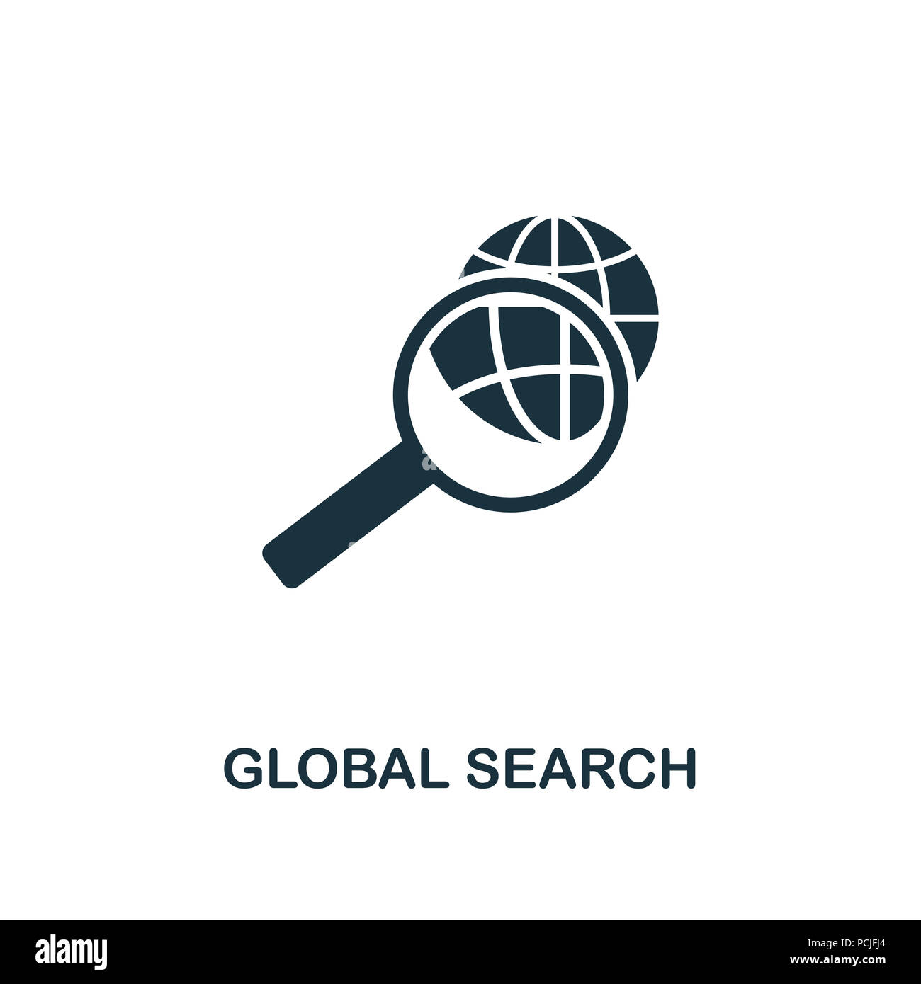 Global Search Creative Icon Simple Element Illustration Global