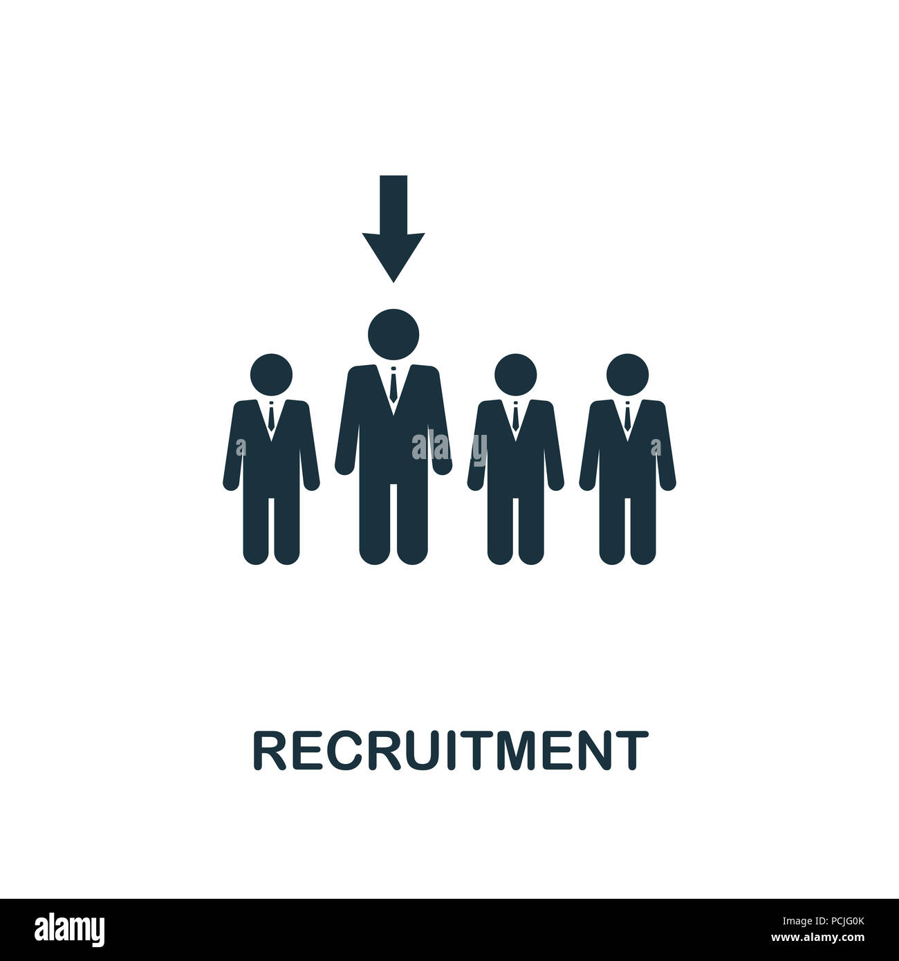 Recruitment creative icon. Simple element illustration. Recruitment concept symbol design from human resources collection. Can be used for web, mobile Stock Photo