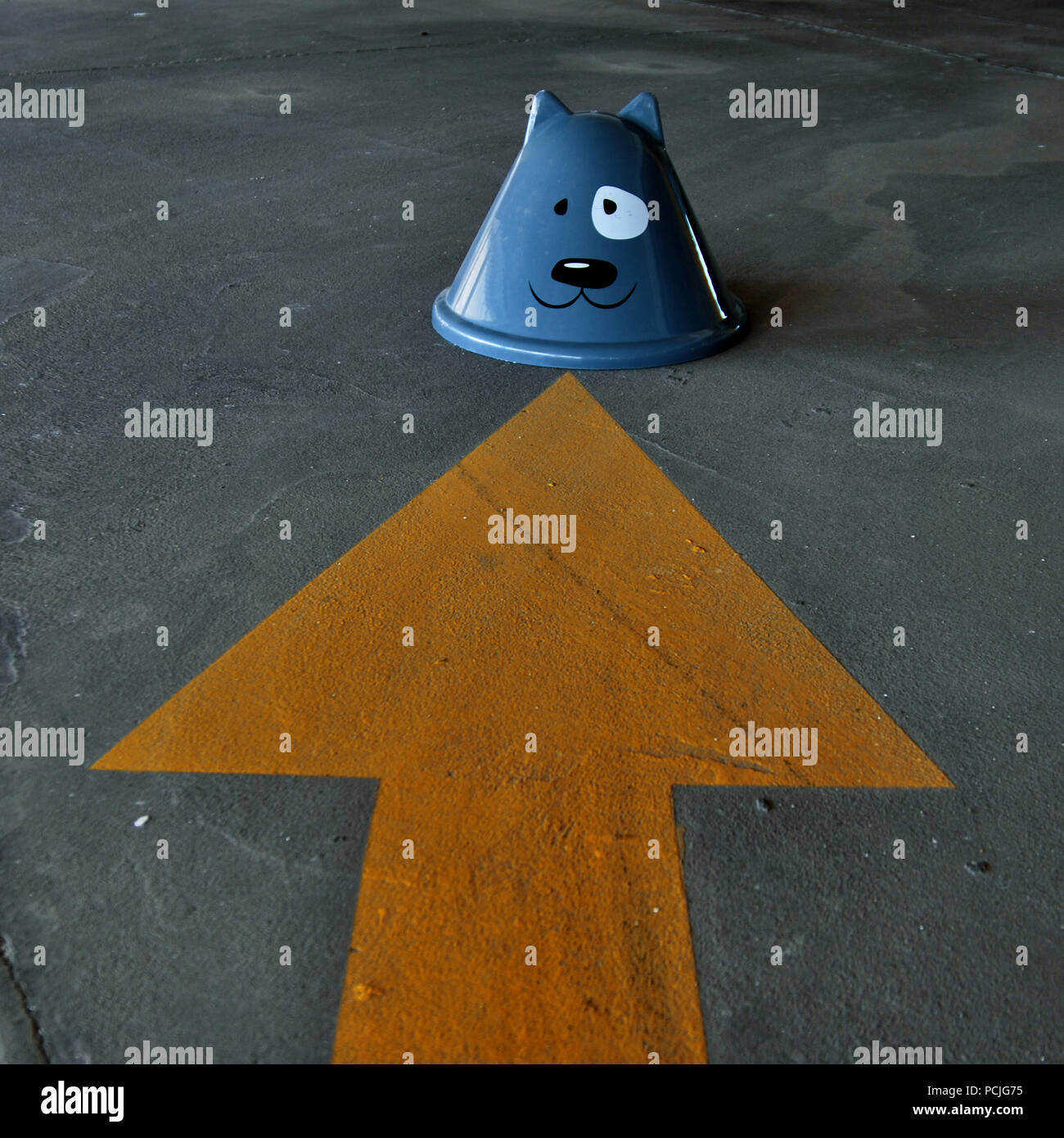 humor,bizarre,arrow,animal figure - Stock Image