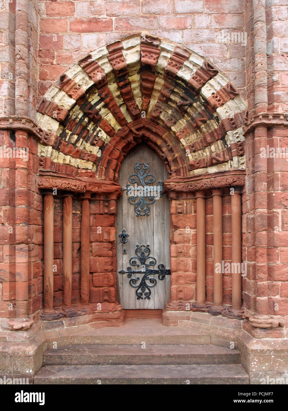 Door, St Magnus cathedral, Kirkwall, Orkney - Stock Image