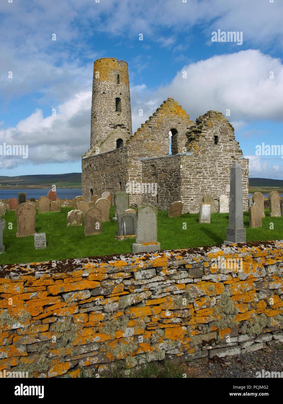 St Magnus church, Egilsay, Orkney - Stock Image
