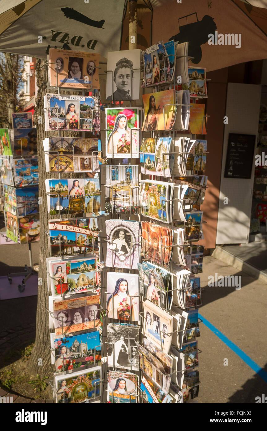 Devotional religious souvenir postcards for sale on the