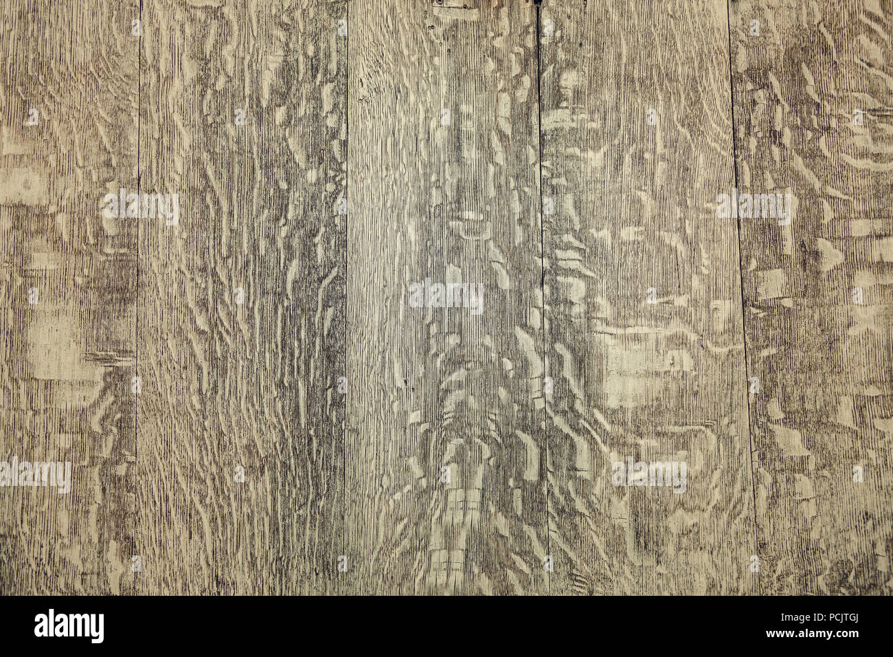 Wood texture. Close up of the vintage wooden texture of the old painted planks. - Stock Image