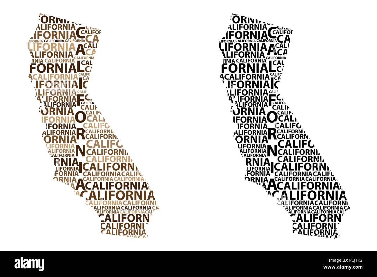 Sketch California (United States of America, The Golden State ...