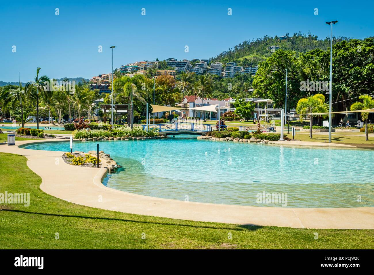 Airlie beach swimming pool lagoon in the summer, Queensland ...