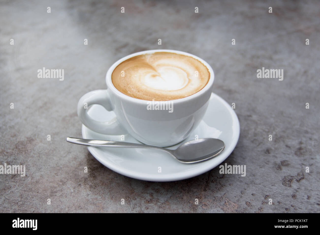 Nice hot mocha cappuccino latte coffee for breakfast buffet service - Stock Image