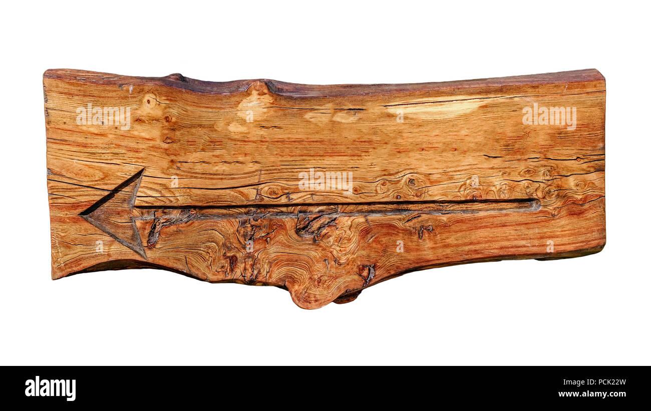 Empty wood indicator - Stock Image