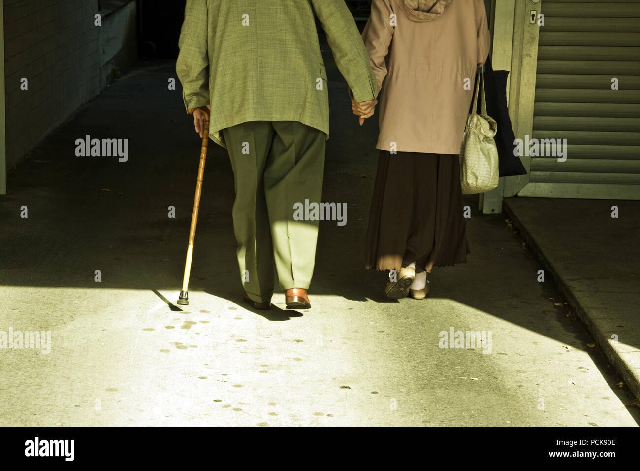 senior,senior,together,couple - Stock Image