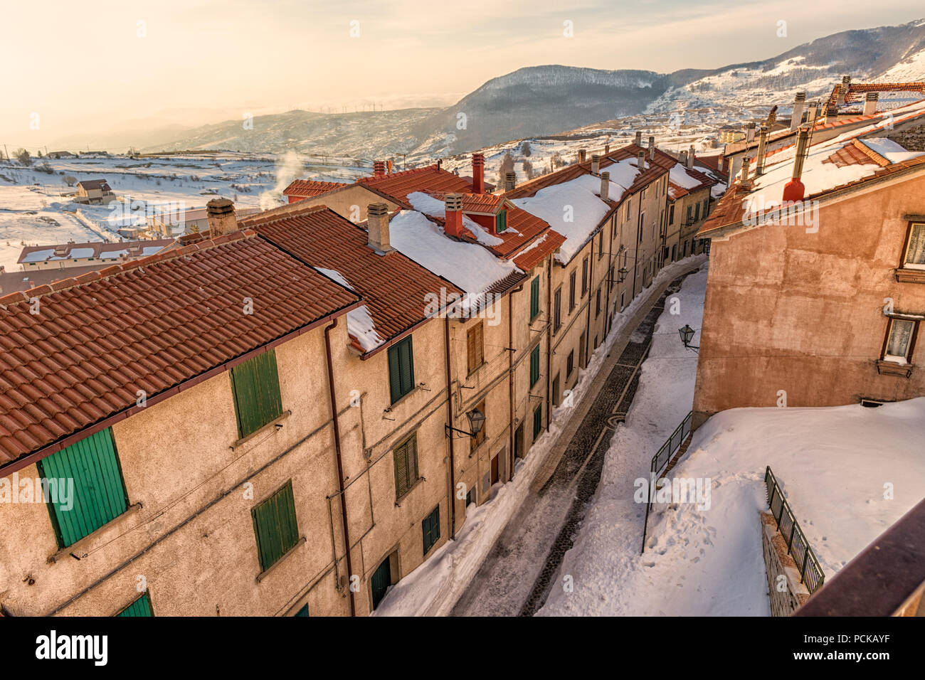 Capracotta, old village- Italy - Stock Image