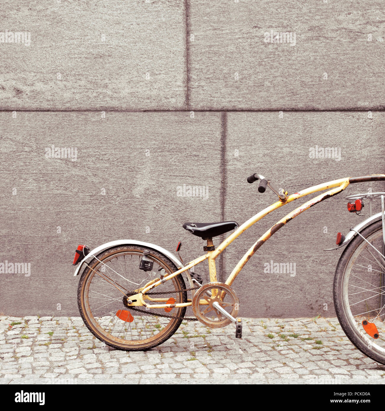 bicycle,children bicycle,bicycle trailers - Stock Image