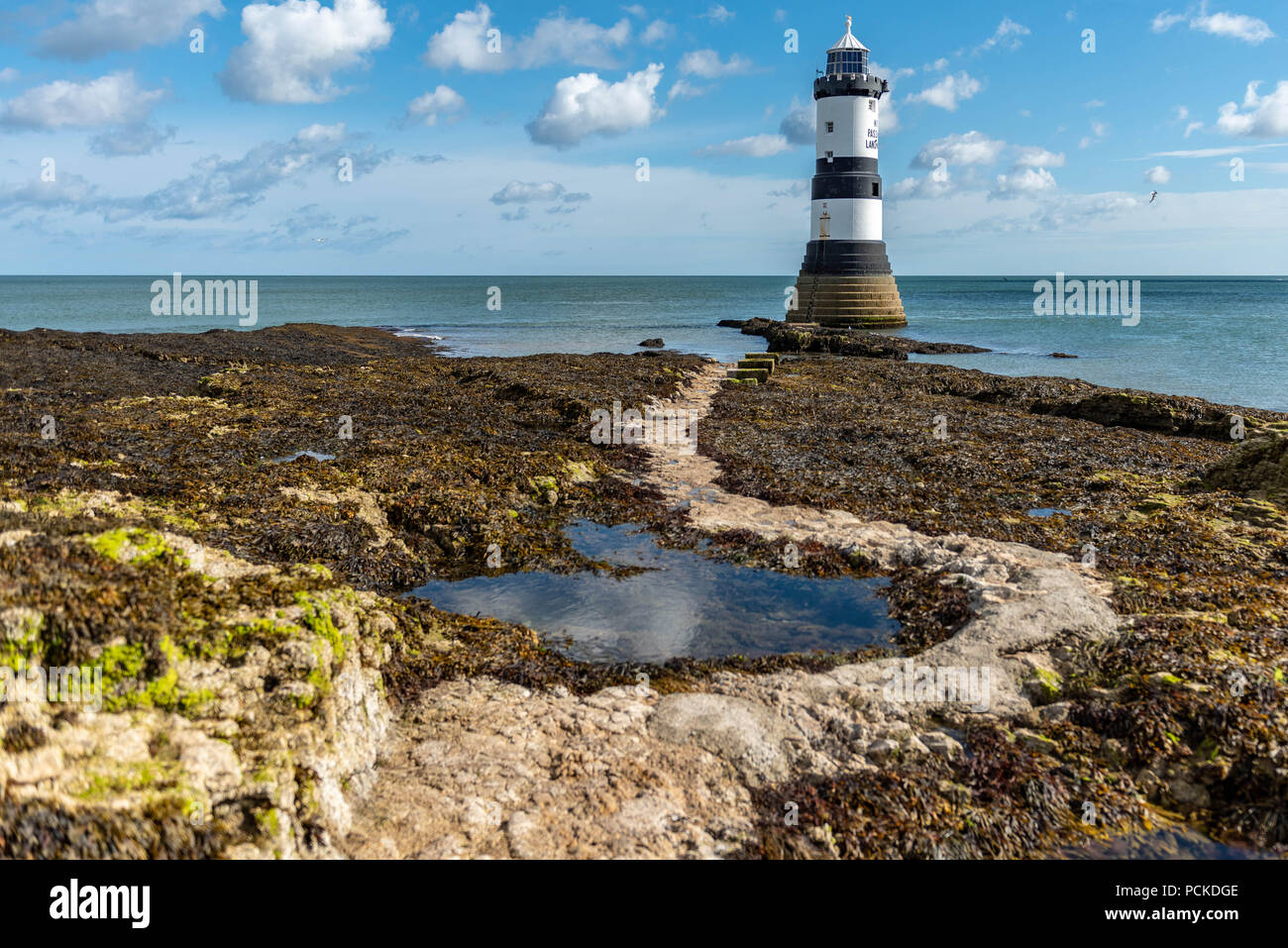 Anglesey,Penmon Lighthouse Stock Photo