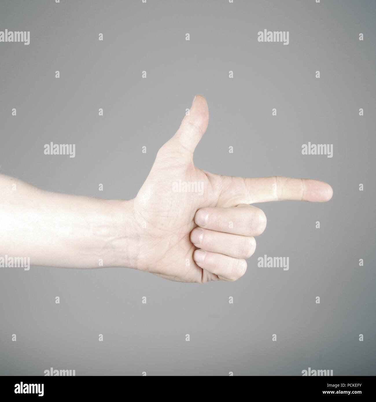 two,hand,enumeration - Stock Image