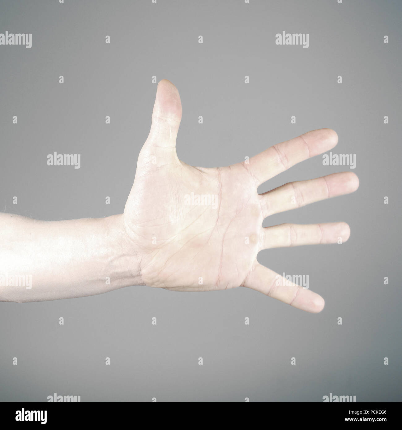 five,hand,enumeration - Stock Image