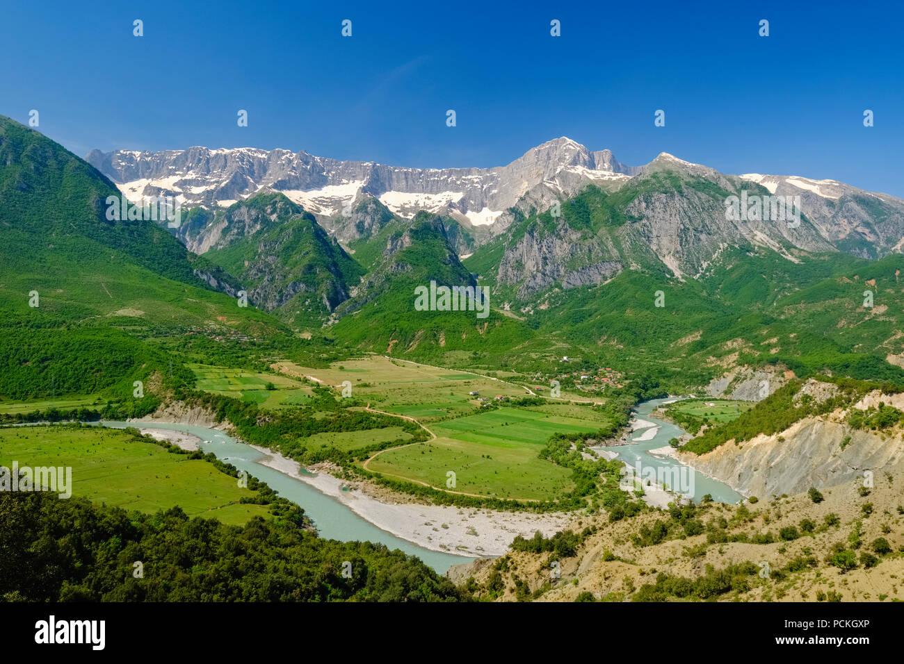 River Vjosa, Upper Vjosa valle...