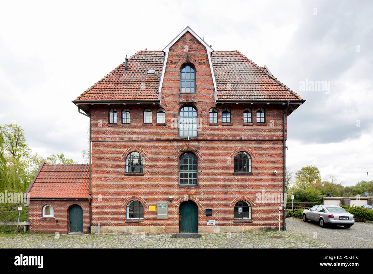 Princely mill on the New Vechte, historic grain mill, Schüttorf, Lower Saxony, Germany - Stock Image