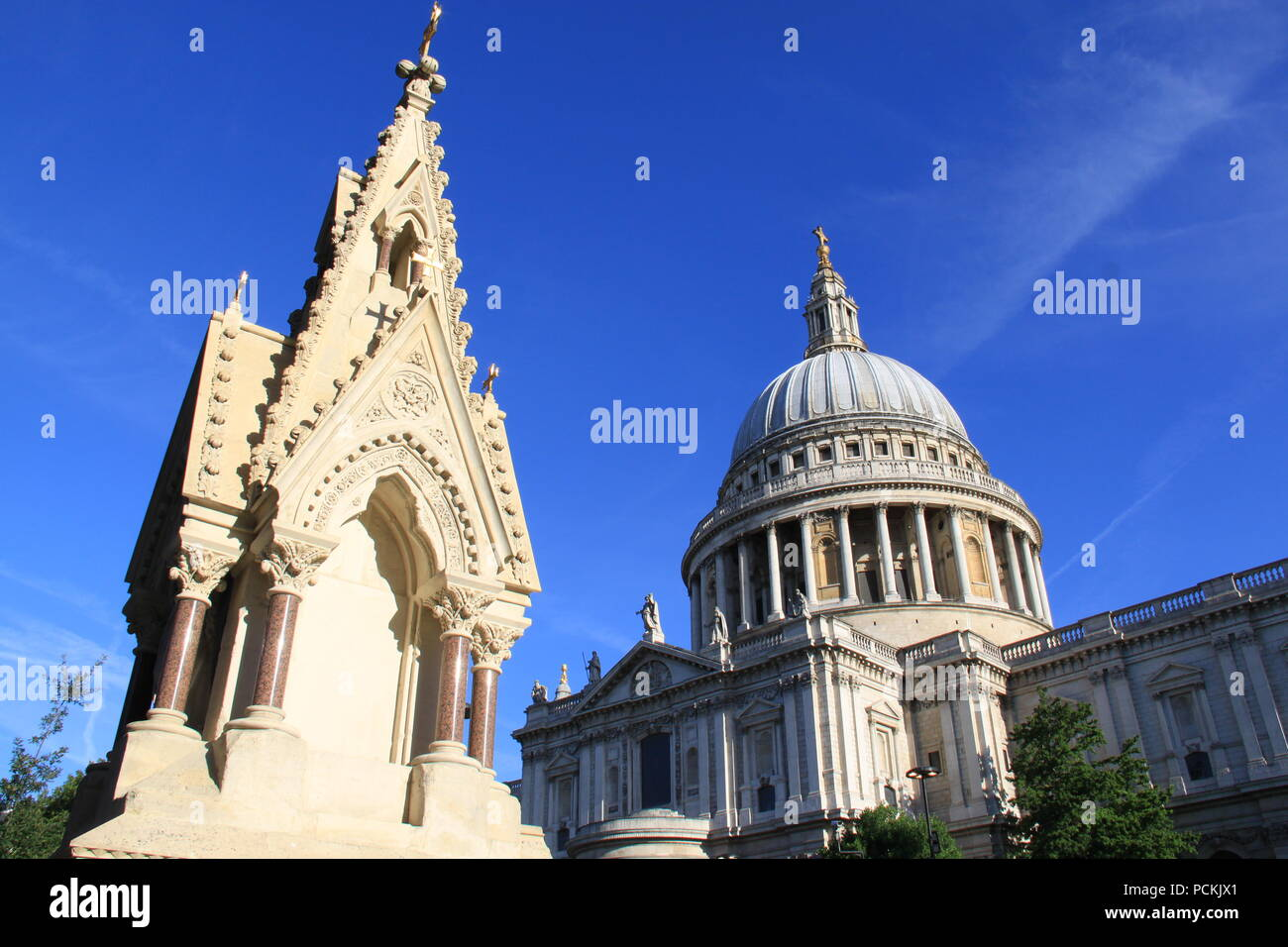 Iconic St Paul's Cathedral on Ludgate Hill, London (designed by the highly acclaimed English architect Sir Christopher Wren) UK, PETER GRANT Stock Photo