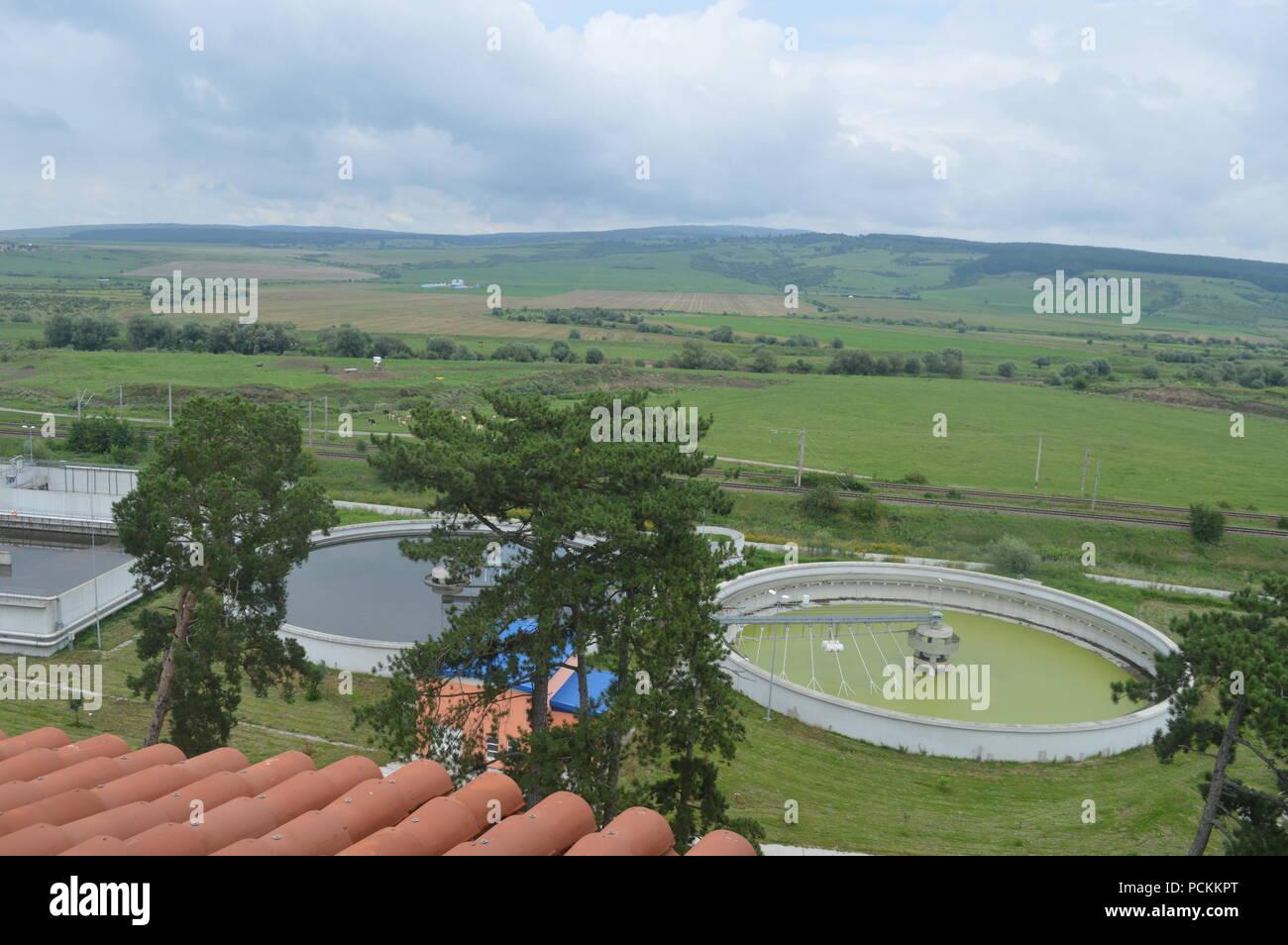 Water treatment plan - Stock Image