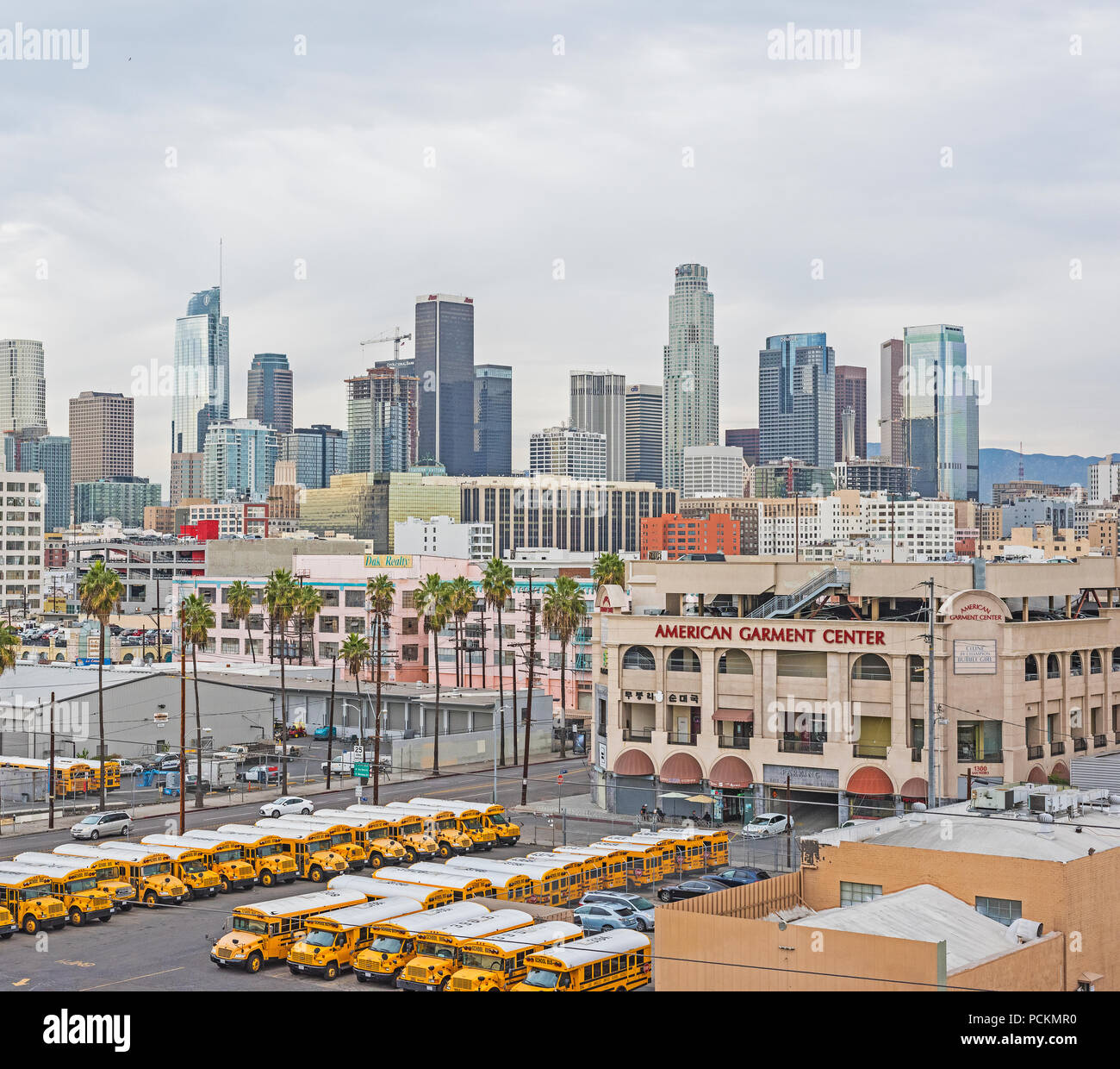 weather forecast buildings downtown los angeles california