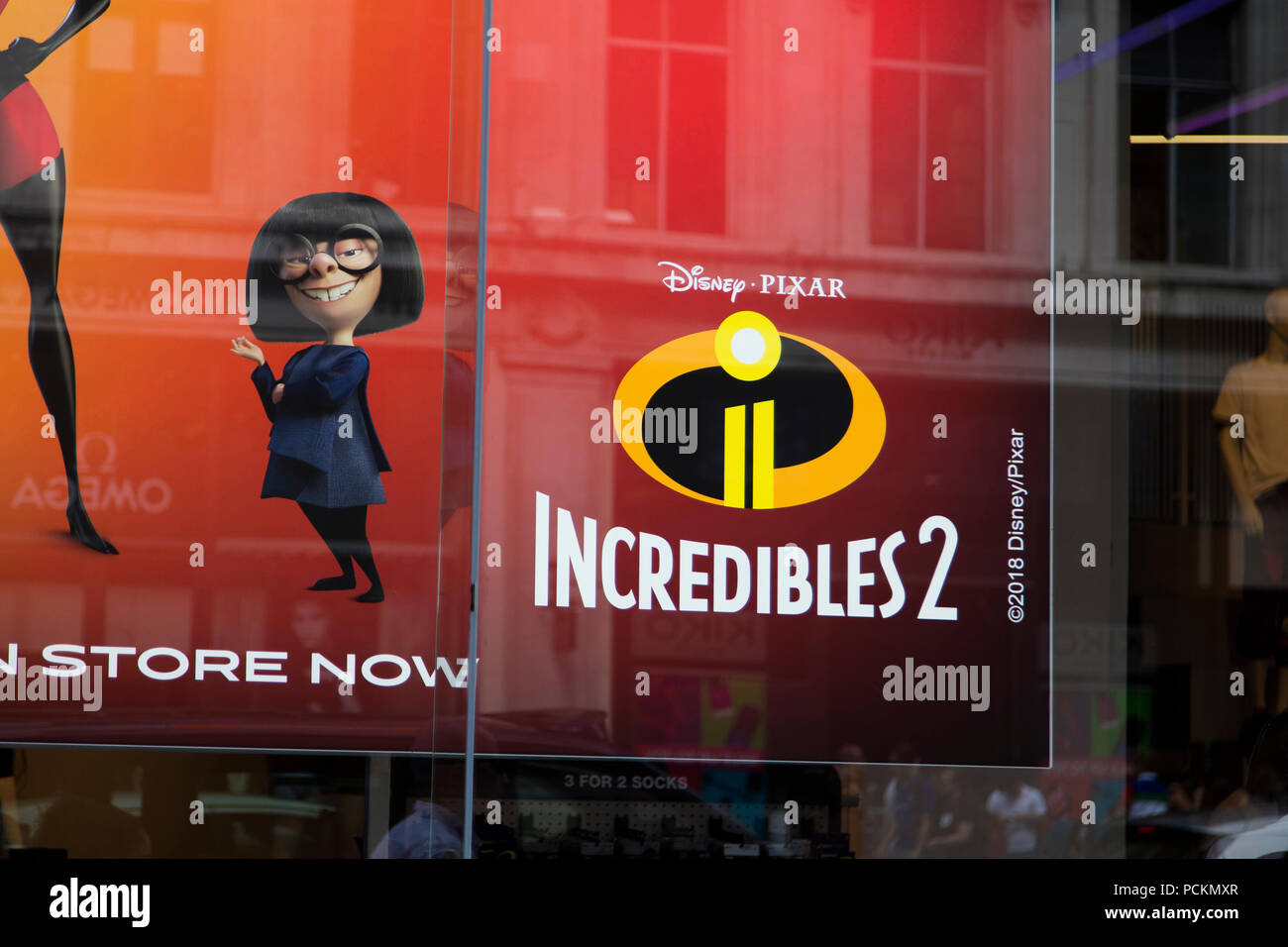 London Uk July 31th 2018 Movie Poster For The Incredibles 2 Film