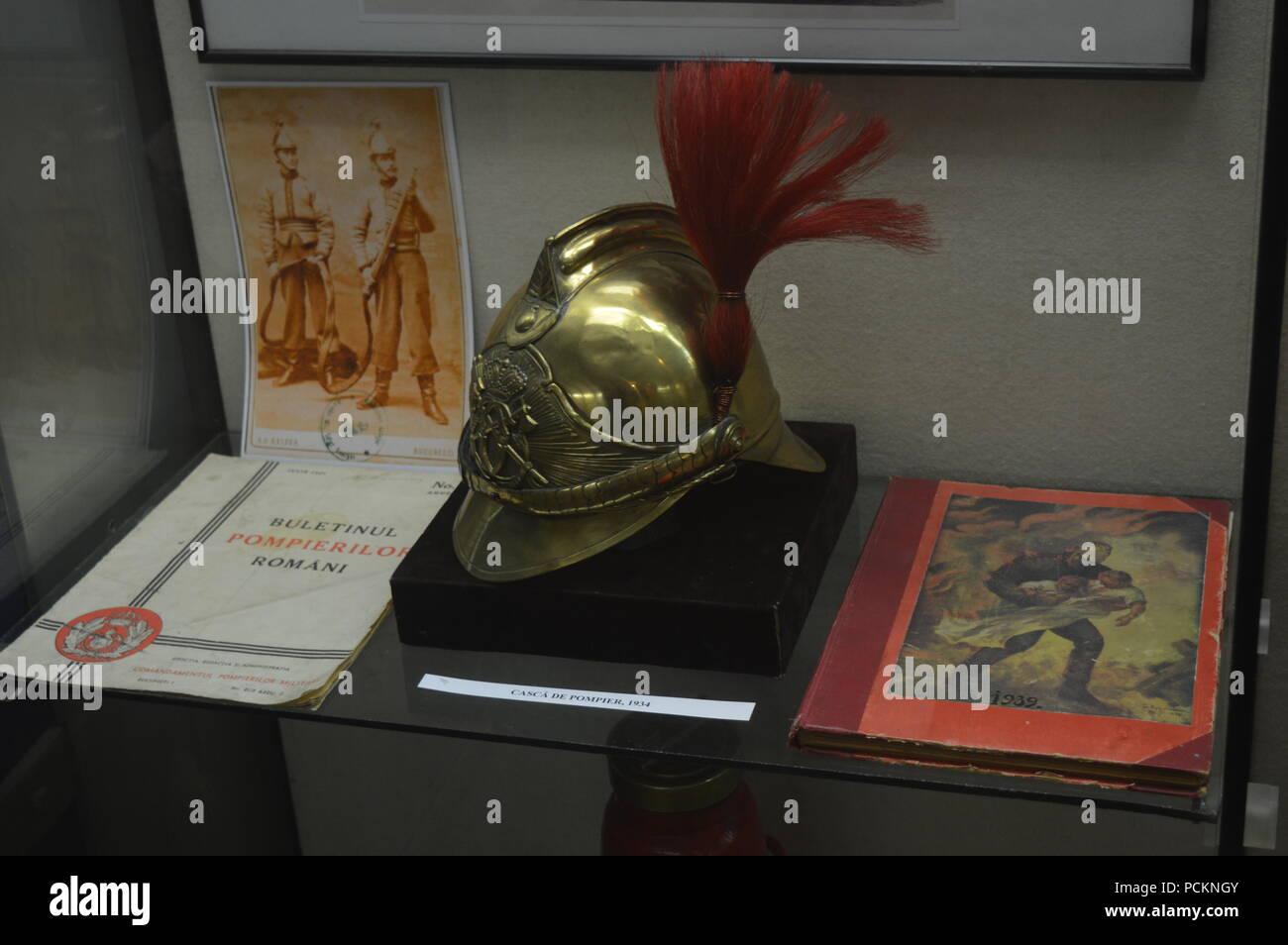 Fireman helmet - Stock Image