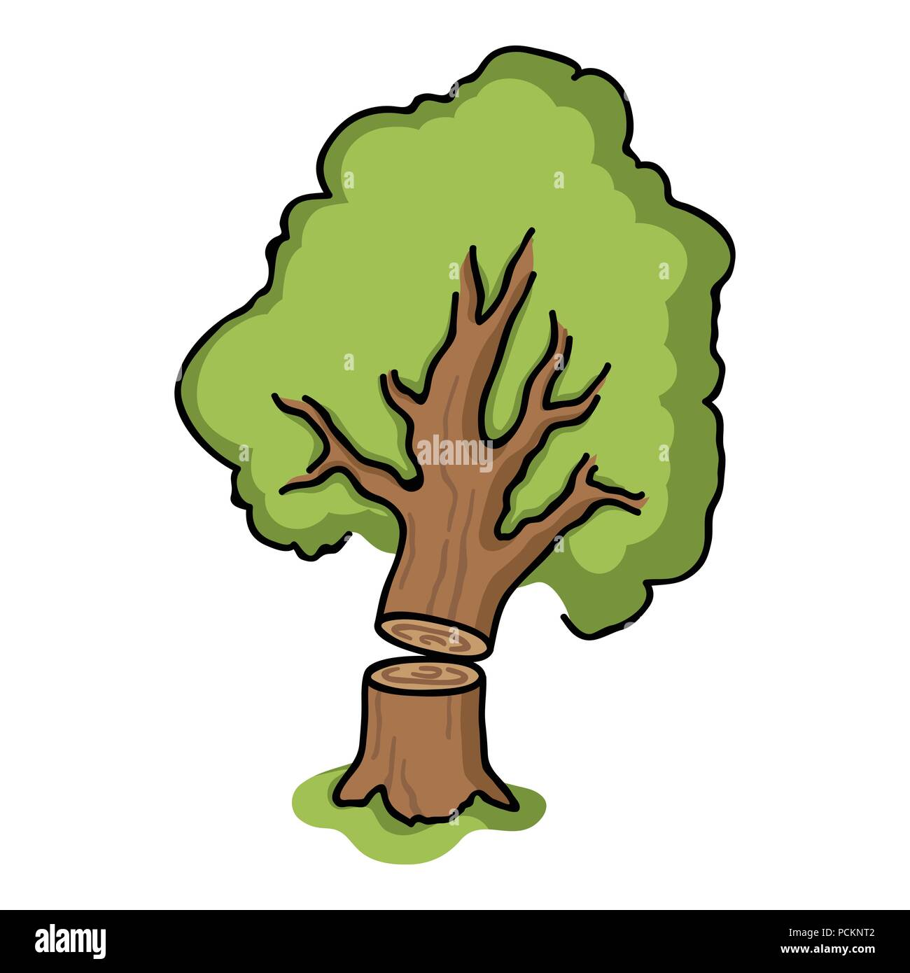 Falling Tree Icon In Cartoon Style Isolated On White Background Sawmill And Timber Symbol Vector Illustration Stock Vector Image Art Alamy Style simple cartoon autumn tree element decorative pattern, autumn tree, fall, autumn png and vector with transparent background for free download. https www alamy com falling tree icon in cartoon style isolated on white background sawmill and timber symbol vector illustration image214334514 html