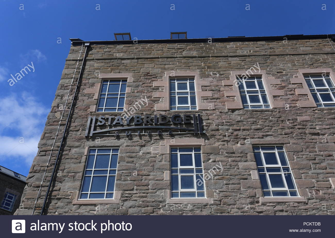 Former Baxter Brothers Mills being refurbished into Hotel Indigo and Staybridge Suites Dundee Scotland  August 2018 - Stock Image