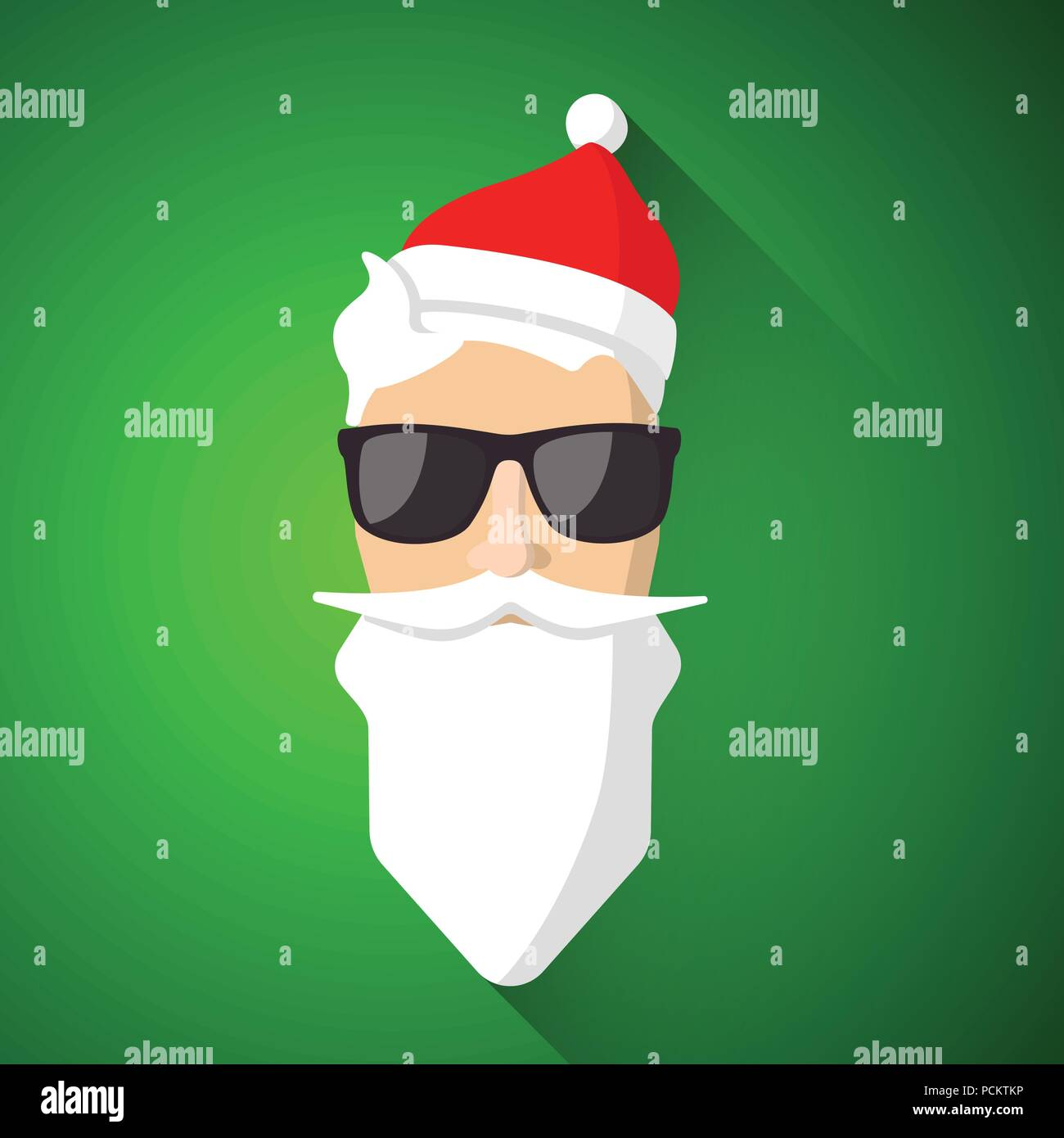 Hipster santa claus with cool beard and glasses merry christmas hipster santa claus with cool beard and glasses merry christmas card design vector eps 10 m4hsunfo