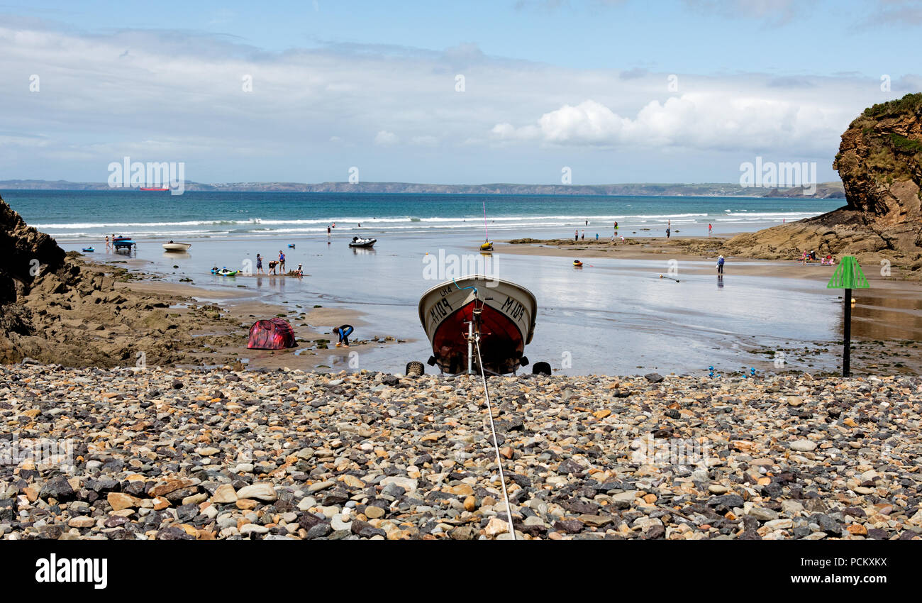 Harbor At Little Haven Pembrokeshire Wales UK - Stock Image