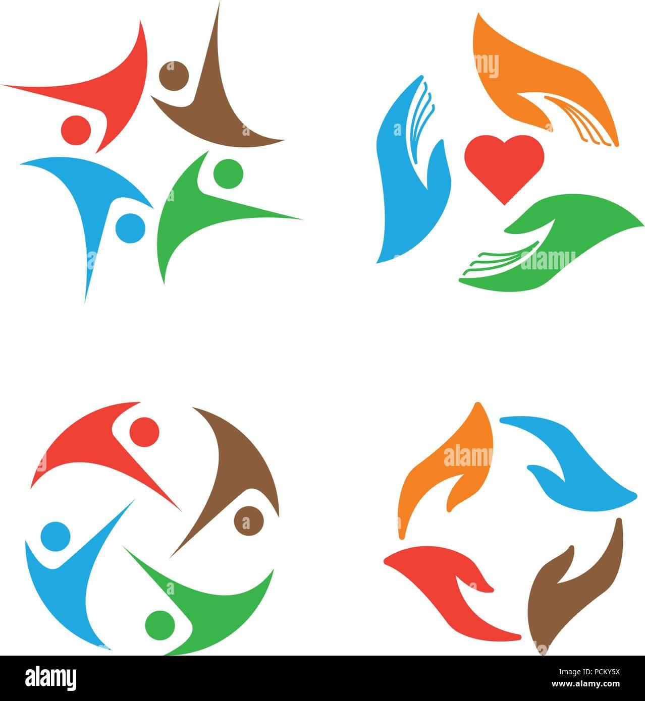 Community organization logo design template Stock Vector Art