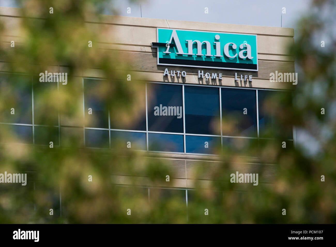 Amica Insurance Company >> A Logo Sign Outside Of A Facility Occupied By The Amica
