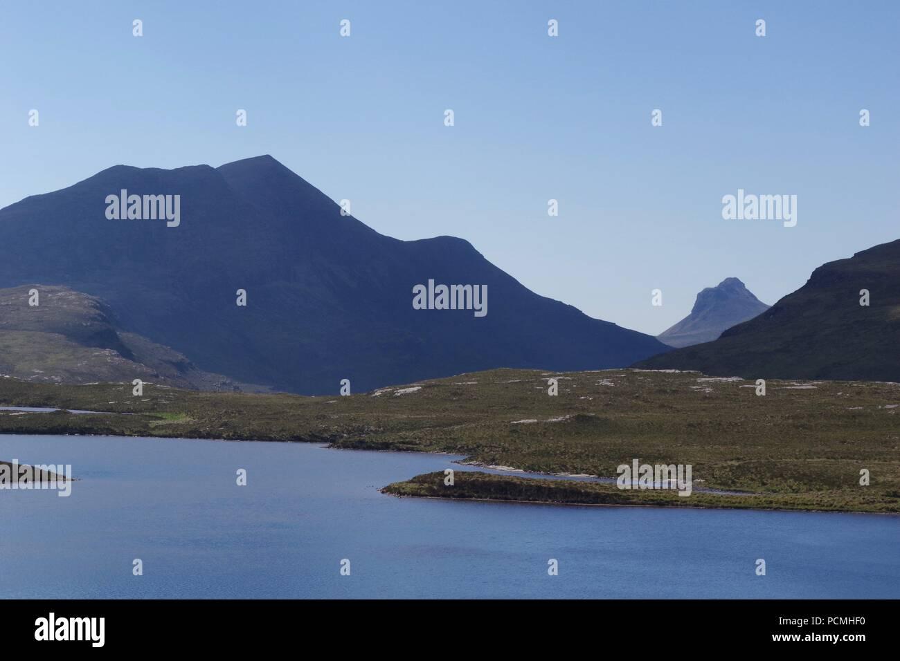 Knockan Crag NNR, North West Highlands Geopark. Scotland, UK. June, 2018. - Stock Image