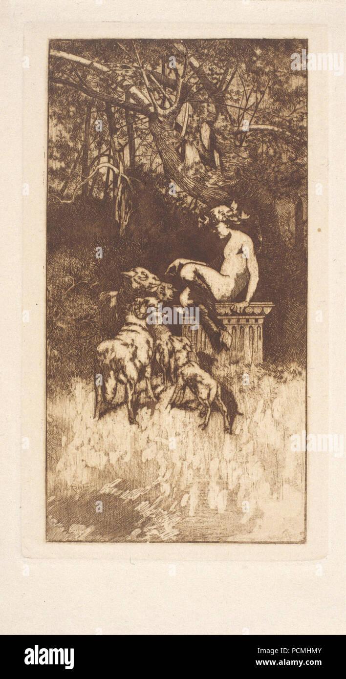 Alexandre de Riquer - Allegorical Composition - - Stock Image
