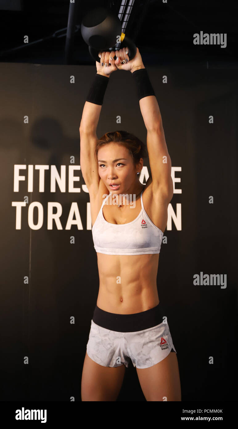 Tokyo, Japan  2nd Aug, 2018  Japanese fitness trainer and