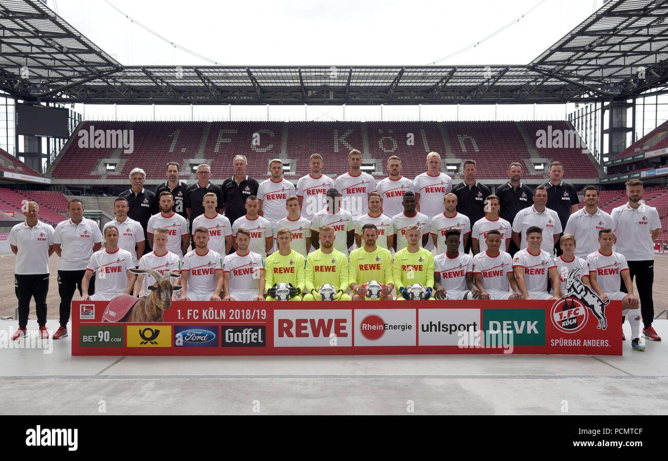 3ae2b315e5a7 2nd German Bundesliga, official photocall FC Cologne for season 2018 ...
