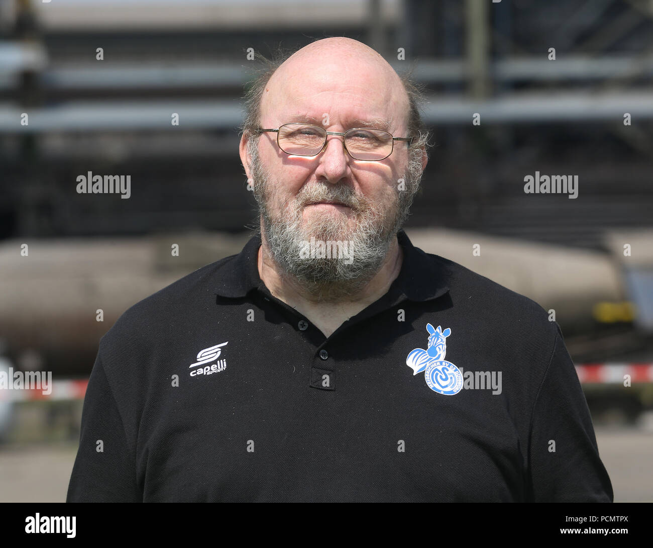 2nd German Bundesliga, official photocall MSV duisburg for season 2018/19 in Duisburg, Germany: kitman Peter Lindner ; Photo: Roland Weihrauch/dpa | usage worldwide - Stock Image