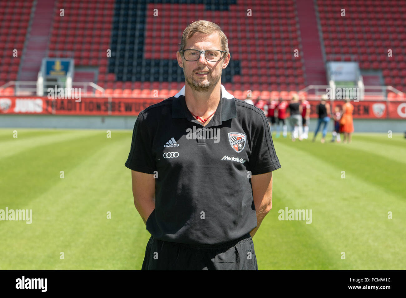 Ingolstadt, Germany. 19th July, 2018. 2nd German Bundesliga, official photocall FC Ingolstadt for season 2018/19 in Ingolstadt, Germany: kitman Michael Klattenbacher ; Credit: Armin Weigel/dpa | usage worldwide/dpa/Alamy Live News - Stock Image