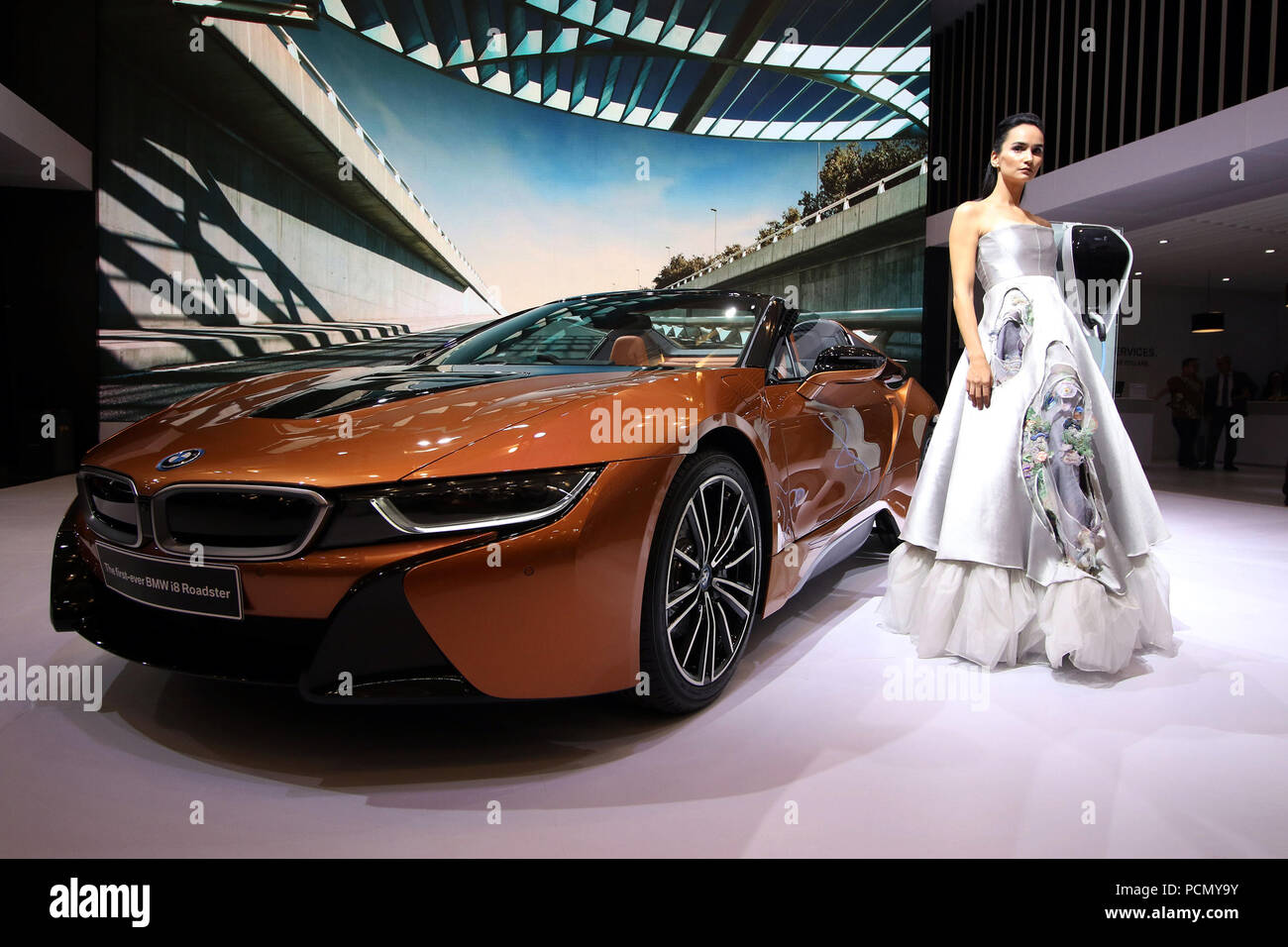 Tangerang Indonesia August 3 2018 A Bmw I8 Roadster Motor Co