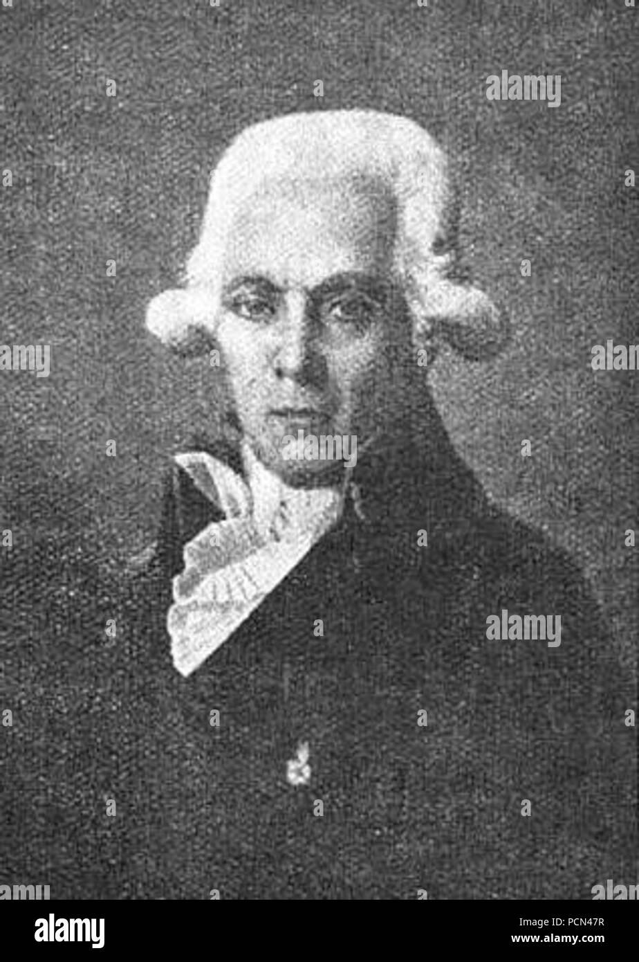 Alexis Larrey chirurgien-Major à l‥99Hôpital la Grave de Toulouse  docteur de l'école de médecine en 1793. - Stock Image