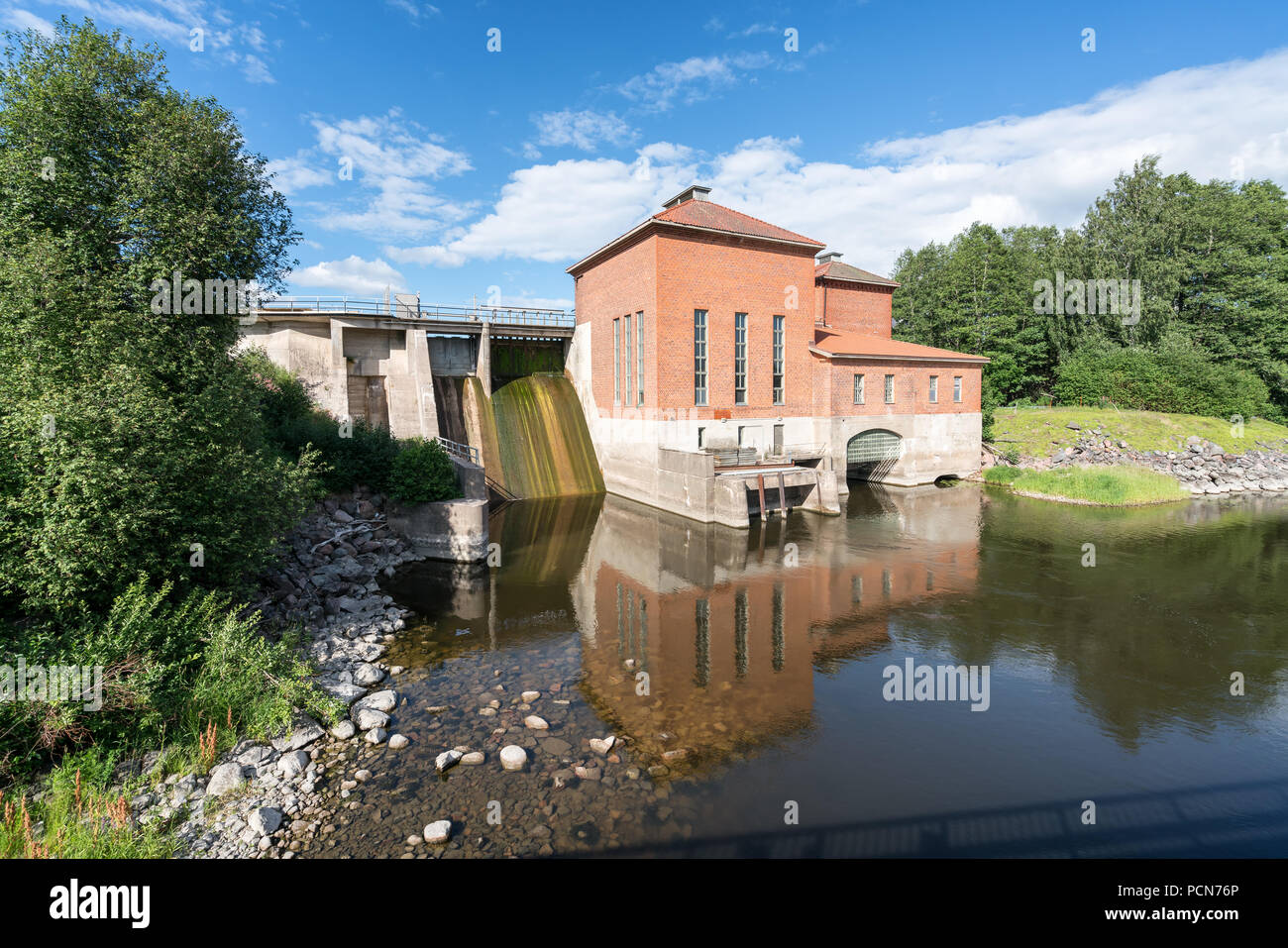Old hydroelectric power plant in Mustio, Raasepori, Finland - Stock Image