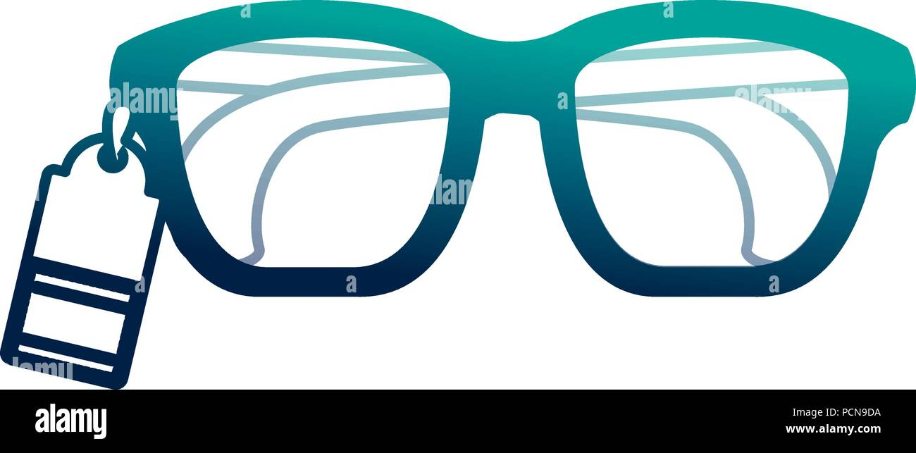 f9ce5aa57a05 glasses vision tag price commerce vector illustration neon desing - Stock  Vector