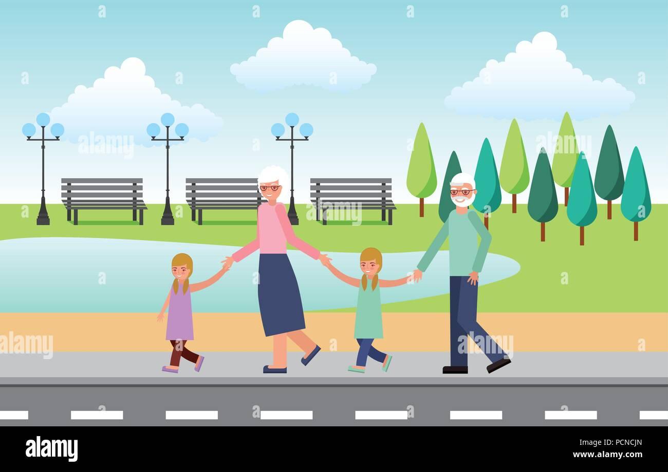 happy grandparents day - Stock Vector