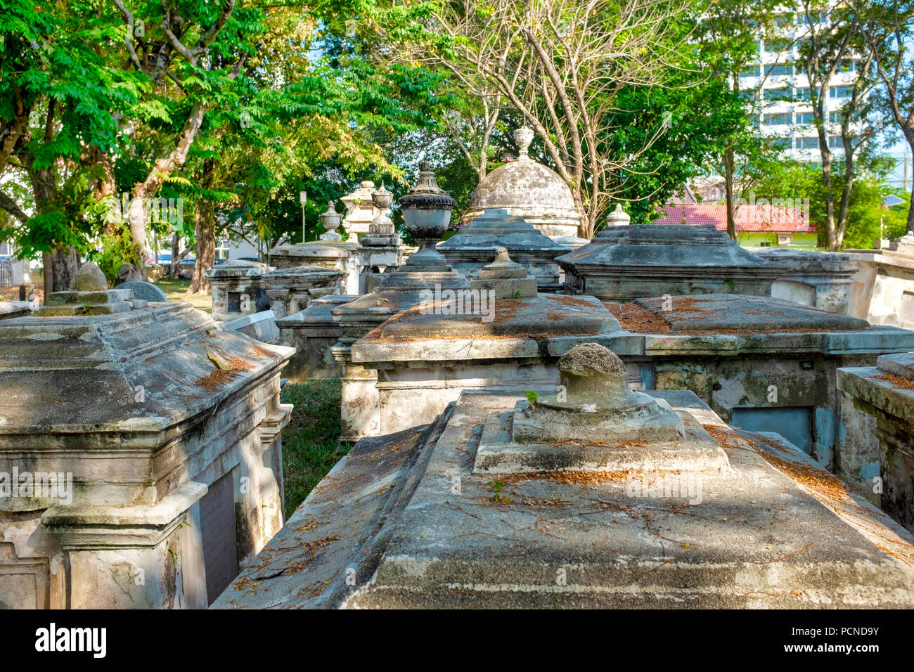 Old Protestant Cemetery, George Town, Penang, Malaysia - Stock Image