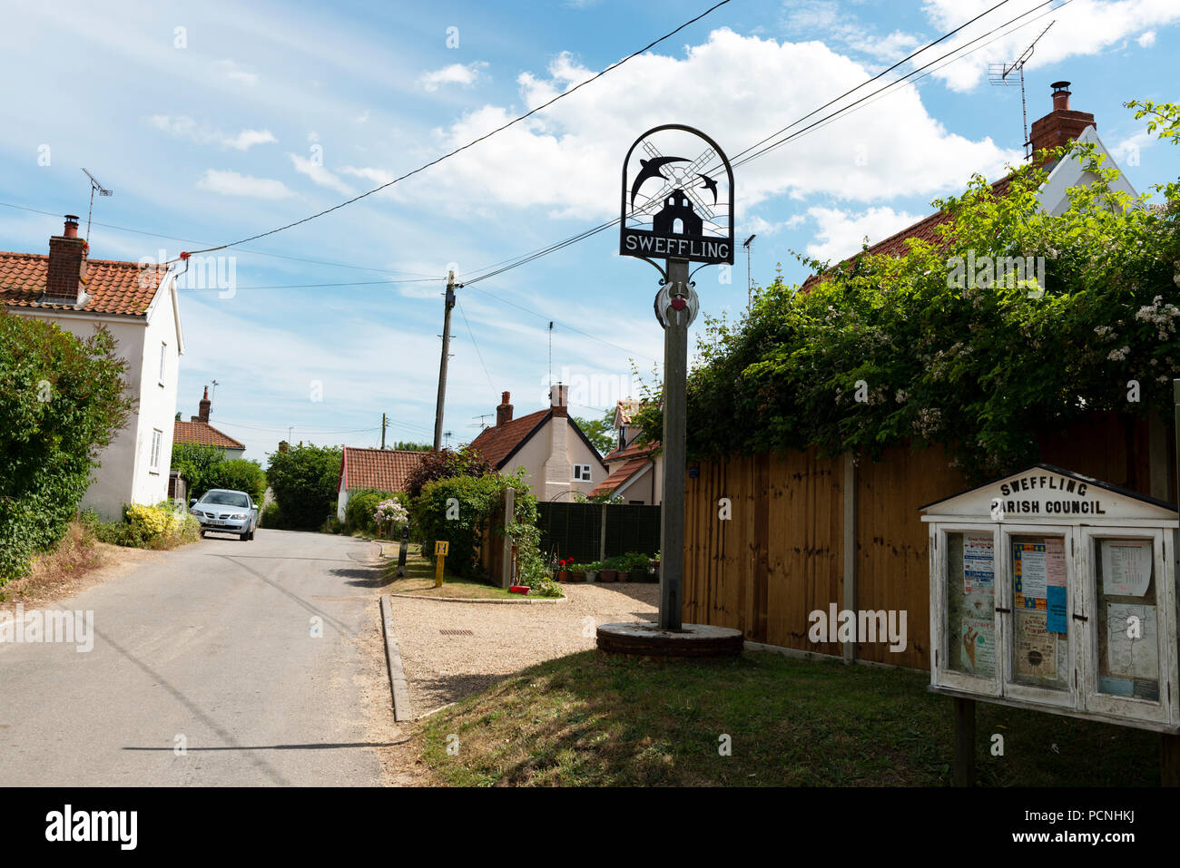 Sweffling Suffolk England - Stock Image