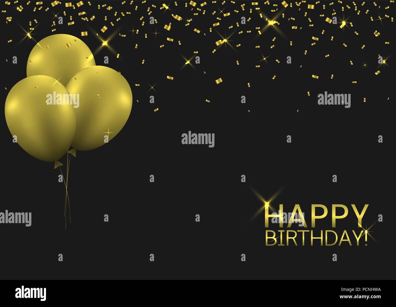Happy Birthday Background Stock Vector Art Illustration