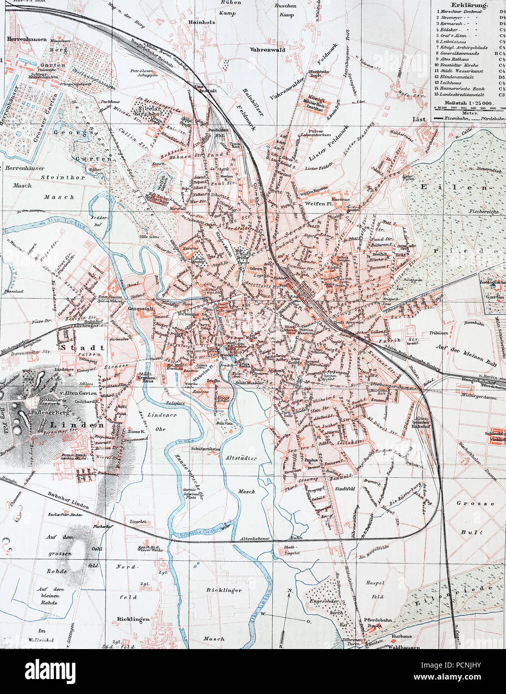 A Historical Map Of Hannover Germany Digital Improved